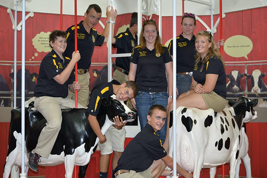 FFA students enjoying their time learning about agriculture